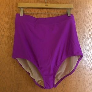 Cacique Lane Bryant High Waisted Swim Bottoms NWOT